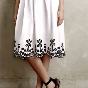 Anthropologie Moulinette White Skirt